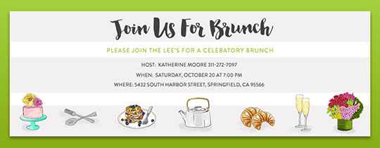 Free Brunch Lunch Get Together Invitations Evitecom - Birthday invitation on mail