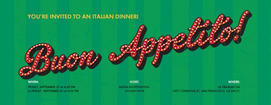 Buon Appetito Invitation