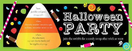 Candy Corn Party Invitation