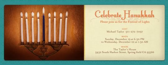 Celebrate Hanukkah Invitation