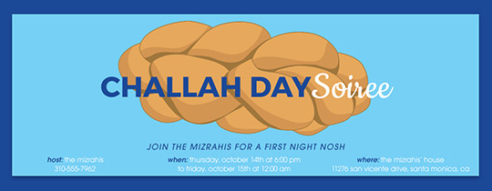 Challah Day Soiree Invitation