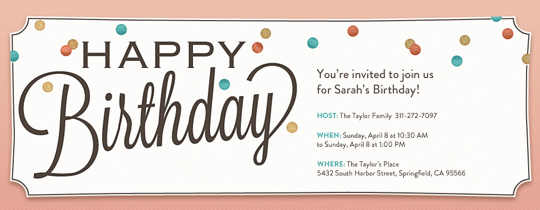 Charming Birthday Invitation