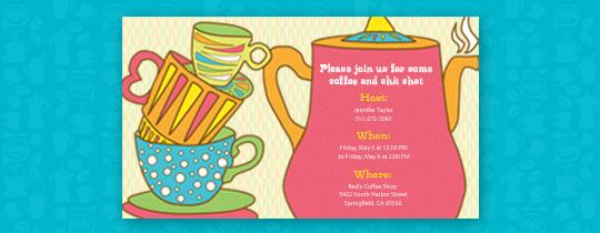 Coffee Pot Invitation