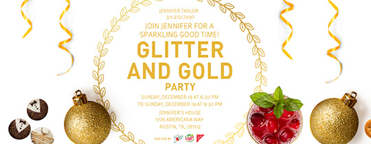 Glitter and Gold Invitation