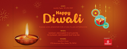 Online Diwali Party Invitations Evite – Diwali Party Invitations
