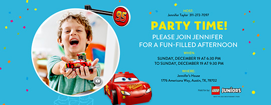 Free Kids Birthday Invitations Online Invites for Children – Free Kids Birthday Invites