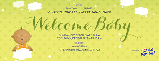 Evitecom Free Online Baby Shower Invitations with RSVP