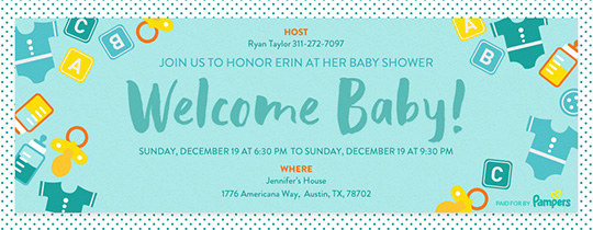 Baby Must-Haves Invitation