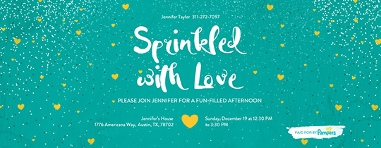 Sprinkled with Love Invitation