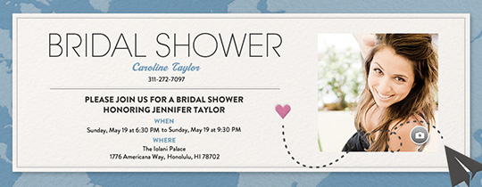 Destination Shower Invitation