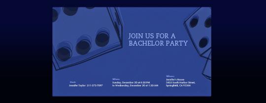 Dice Invitation