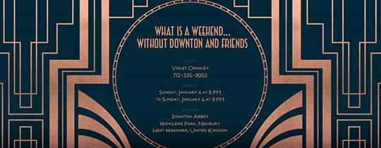 Downton Deco Midnight Invitation