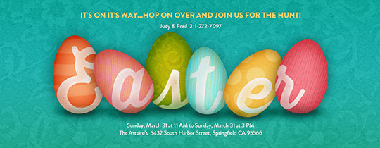 Eggy Easter Invitation
