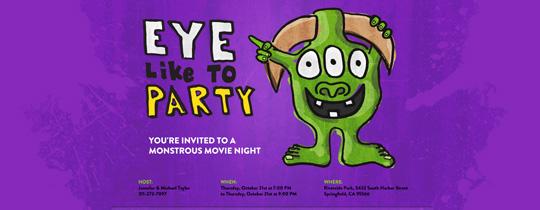 Eye Monster Invitation