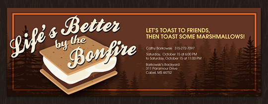 S'more Good Times Invitation