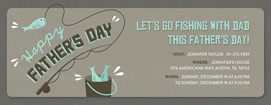 Father's Day Fishing Invitation