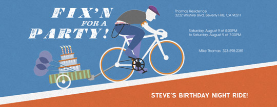 Fixie Party Invitation