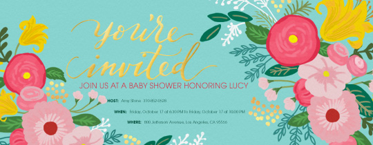 Floral Bloom Invitation
