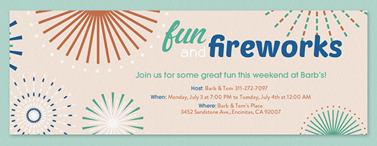 Fun and Fireworks Invitation