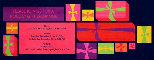 Gift Grid Invitation