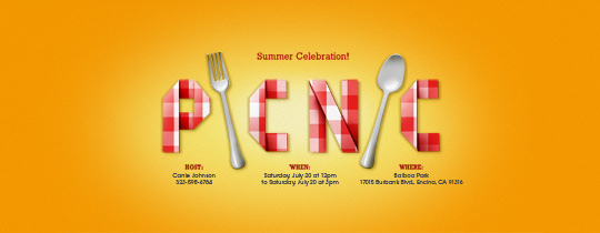 Gingham Picnic Invitation