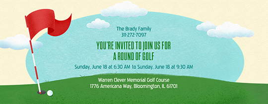 Golf on the Green Invitation