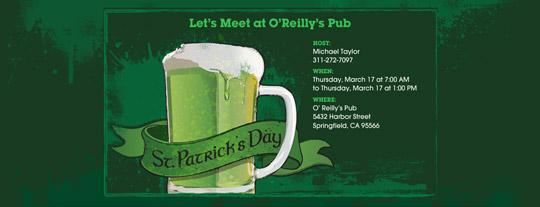 Green Beer Invitation