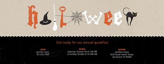 Halloween Letters Invitation