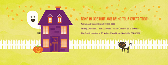 Happy Haunted House Invitation