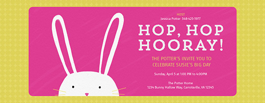 Hip Hop Hooray Invitation