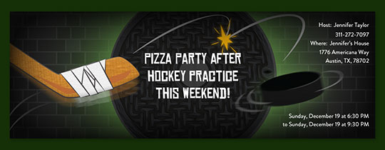 Hockey Puck Invitation