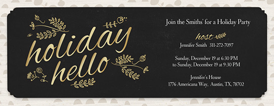 Evite – Holiday Party Email Invitations