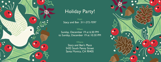 Holiday Holly Invitation