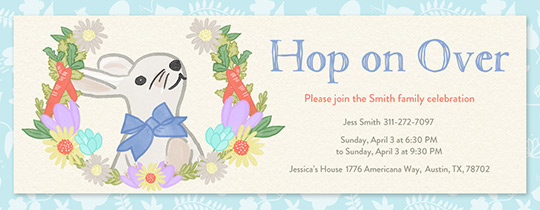 Hop on Over Invitation