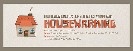 Housewarming Invitation  Housewarming Invitations Templates