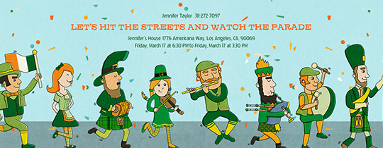 Irish Parade Invitation