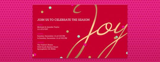 Joy Confetti Invitation