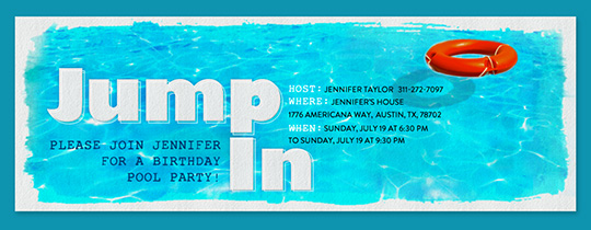 Jump In Invitation