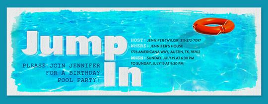 Pool party BBQs Beach 4th of July invitations – Invitations for Pool Party