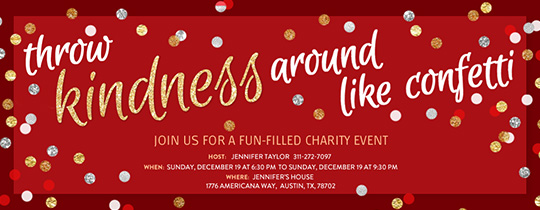 Free Charity  Fundraiser Event Online Invitations  Evitecom