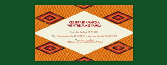 Kwanzaa Diamonds Invitation