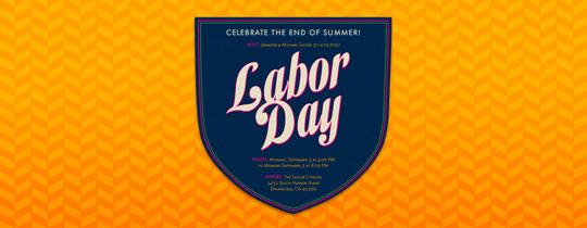 Labor Day Badge Invitation