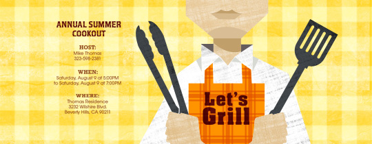 Let's Grill Invitation