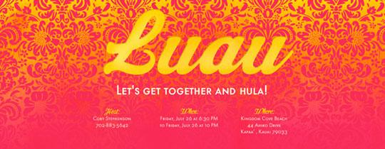 Luau Florals Invitation