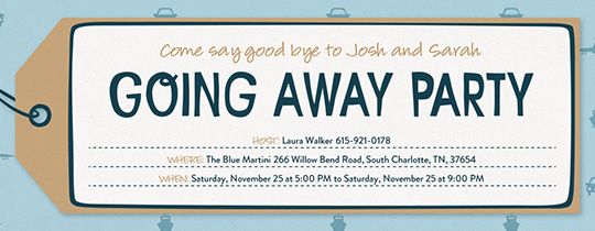Luggage Tag Invitation
