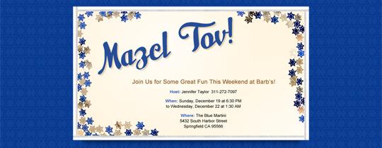 Mazel Tov Stars Invitation