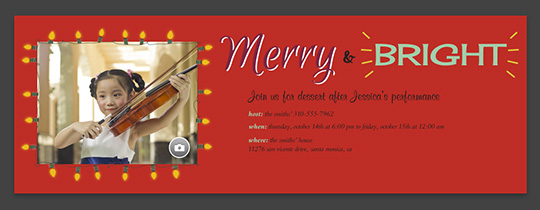 Merry and Bright Invitation