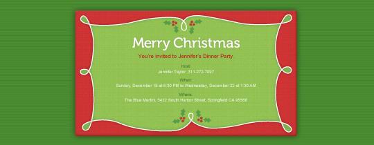 Merry Holly Invitation