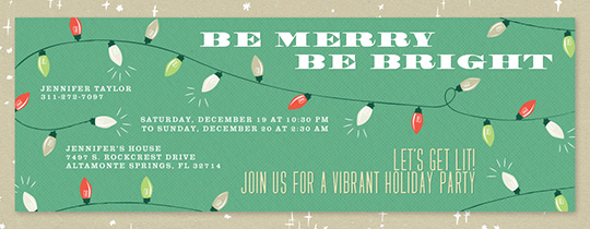 Merry Lights Invitation