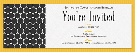 Modern Dots Invitation